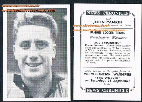 1955 Wolves News Chronicle Swinbourne